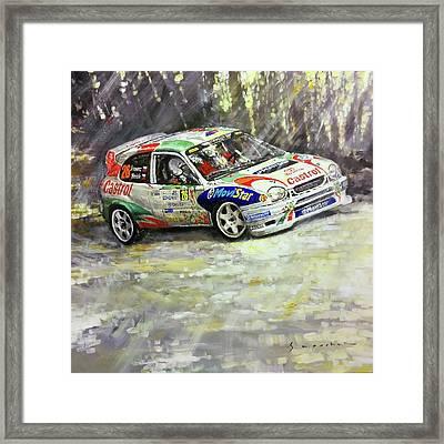 1997-1999 Toyota Carolla Wrc Framed Print