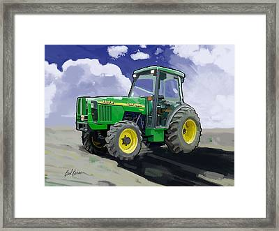 1998 John Deere 5510n Farm Tractor Framed Print by Brad Burns