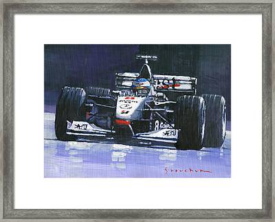 1998 Mika Hakkinen World Champion Formula One  Mclaren Mp4-13 Framed Print by Yuriy Shevchuk
