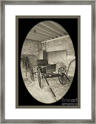 19th Century Carriage Framed Print by Imagery by Charly
