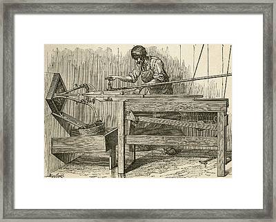 19th Century Machine For Making Files Framed Print by Vintage Design Pics