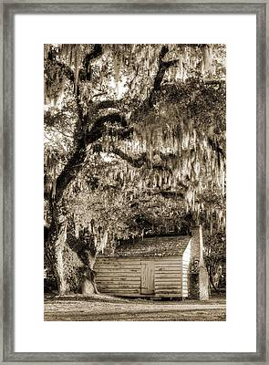 19th Century Slave House Framed Print