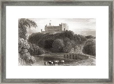 19th Century View Of Belvoir Castle Framed Print