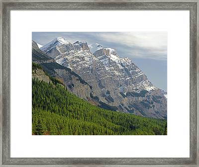 1m3625 Massive Ramparts Of Mt. Wilson Framed Print by Ed  Cooper Photography