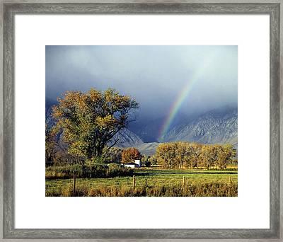 1m6345 Rainbow In Sierras Framed Print