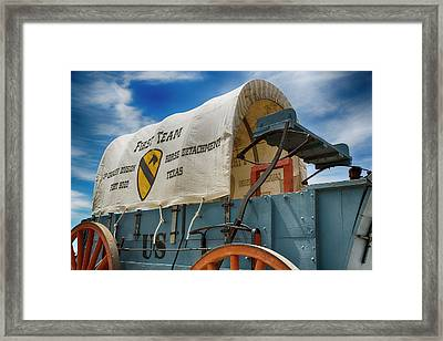 1st Cavalry Division Fort Hood - Horse Detachment Framed Print