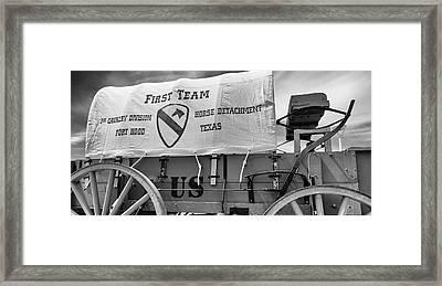1st Cavalry Division Horse Detachment Framed Print