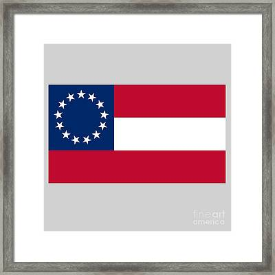 1st Confederate Flag Framed Print by Frederick Holiday