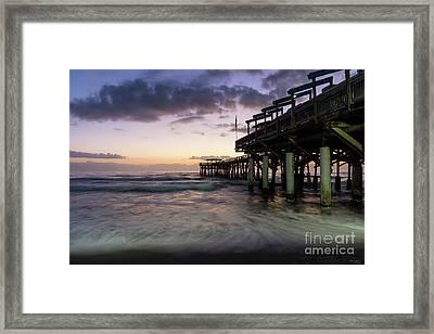 1st Dawn Cocoa Pier Framed Print by Jennifer White