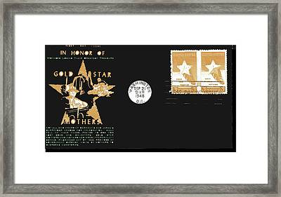 1st Day Cover Gold Star Mothers  Number 2 1948 Color Added 2016 Framed Print by David Lee Guss