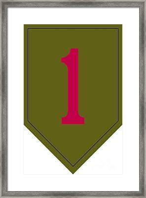 1st Infantry Division Shoulder Sleeve Framed Print