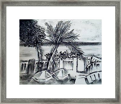 1st La Playa  Framed Print