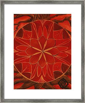 1st Mandala - Root Chakra Framed Print by Jennifer Christenson