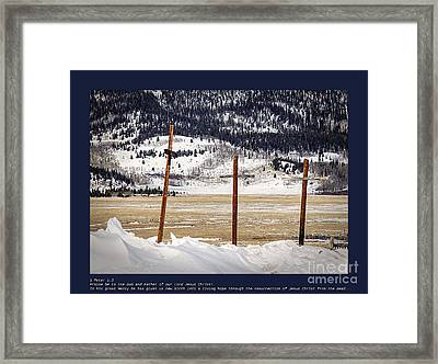 1st Peter Framed Print by Janice Rae Pariza