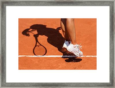 1st Serve Framed Print