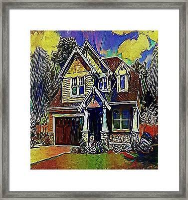 House - My Www Vikinek-art.com Framed Print by Viktor Lebeda