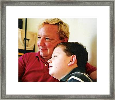 Father And Son Framed Print by Scarlett Royal