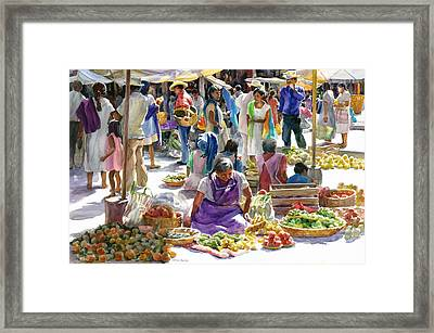 Saturday Market Framed Print by Carolyn Epperly