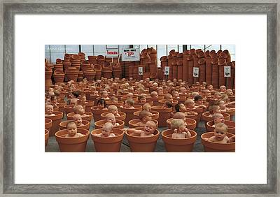 123 Pots Framed Print by Anne Geddes