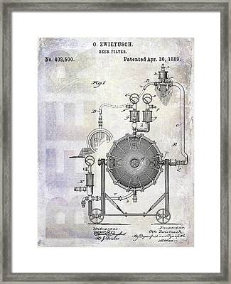 1889 Beer Filter Patent Framed Print