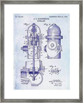1903 Fire Hydrant Patent Framed Print by Jon Neidert