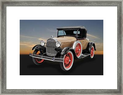 1929 Ford Model A Convertible Framed Print by Frank J Benz