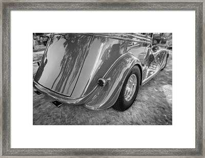 1934 Ford Vicky Sedan Painted Bw Framed Print