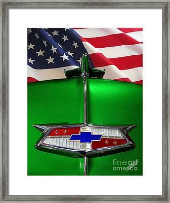 1954 Chevrolet Hood Emblem Framed Print by Peter Piatt