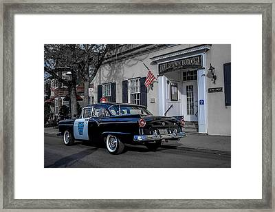 1957 Doylestown Borough Police Cruiser Framed Print by Michael Brooks