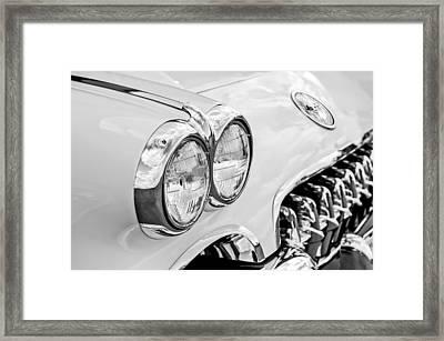 1959 Chevrolet Corvette Grille Framed Print by Jill Reger