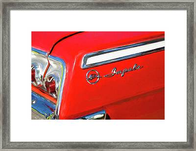 1962 Chevrolet Impala Ss Framed Print by Rich Franco