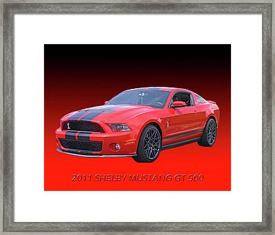 2011 Shelby American Mustang Framed Print by Jack Pumphrey