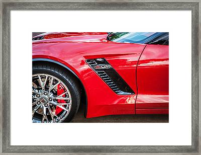 2015 Chevrolet Corvette Z06 Painted  Framed Print by Rich Franco