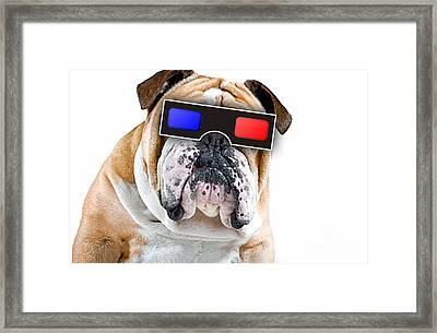 3d Dog Collection Framed Print by Marvin Blaine