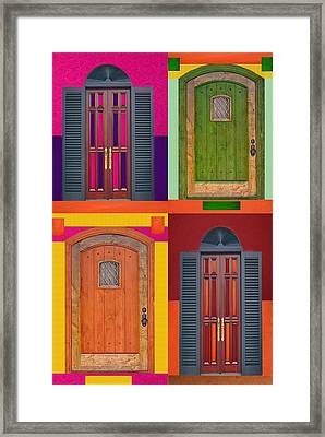 4doors Framed Print by Art Spectrum
