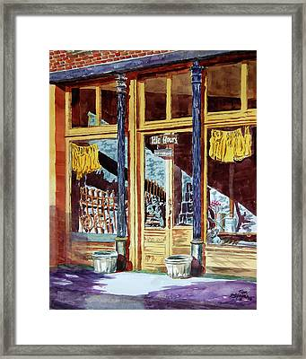 5 O'clock On Pecan St. Framed Print