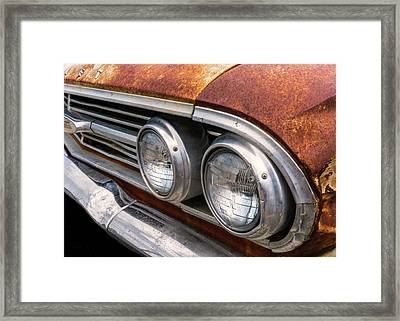 50s Chevrolet Front End Framed Print by Jim Hughes