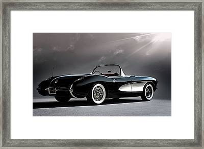 '56 Corvette Convertible Framed Print by Douglas Pittman