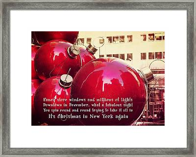 6th Avenue Quote Framed Print by JAMART Photography