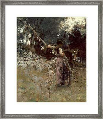 A Capriote Framed Print by John Singer Sargent