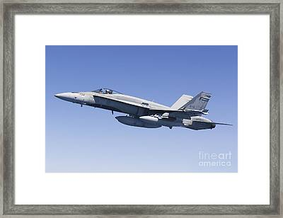 A Cf-188a Hornet Of The Royal Canadian Framed Print by Gert Kromhout