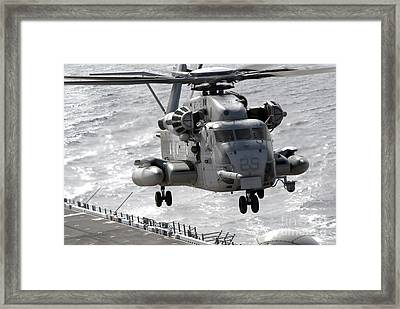A Ch-53e Super Stallion Helicopter Framed Print by Stocktrek Images