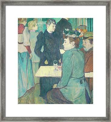 A Corner Of The Moulin De La Galette Framed Print