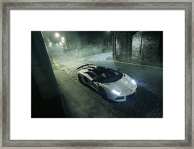 A Foggy Evening In London Framed Print
