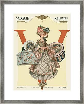 A French Shepherdess Framed Print
