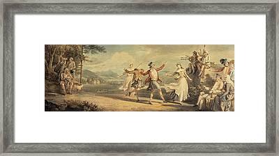 A Highland Dance Framed Print by David Allan