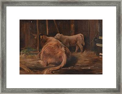 A Highland Mother Framed Print by Joseph Denovan