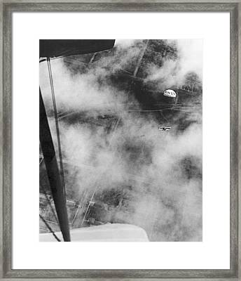 A Parachute For Airplanes Framed Print