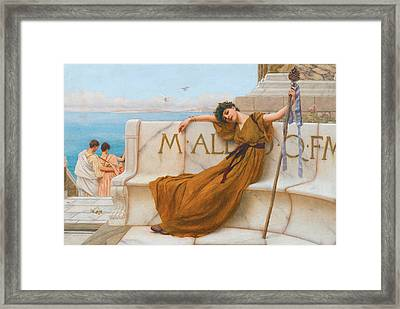 A Priestess Of Bacchus Framed Print by John William Godward