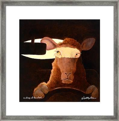 A Sheep At The Wheel... Framed Print